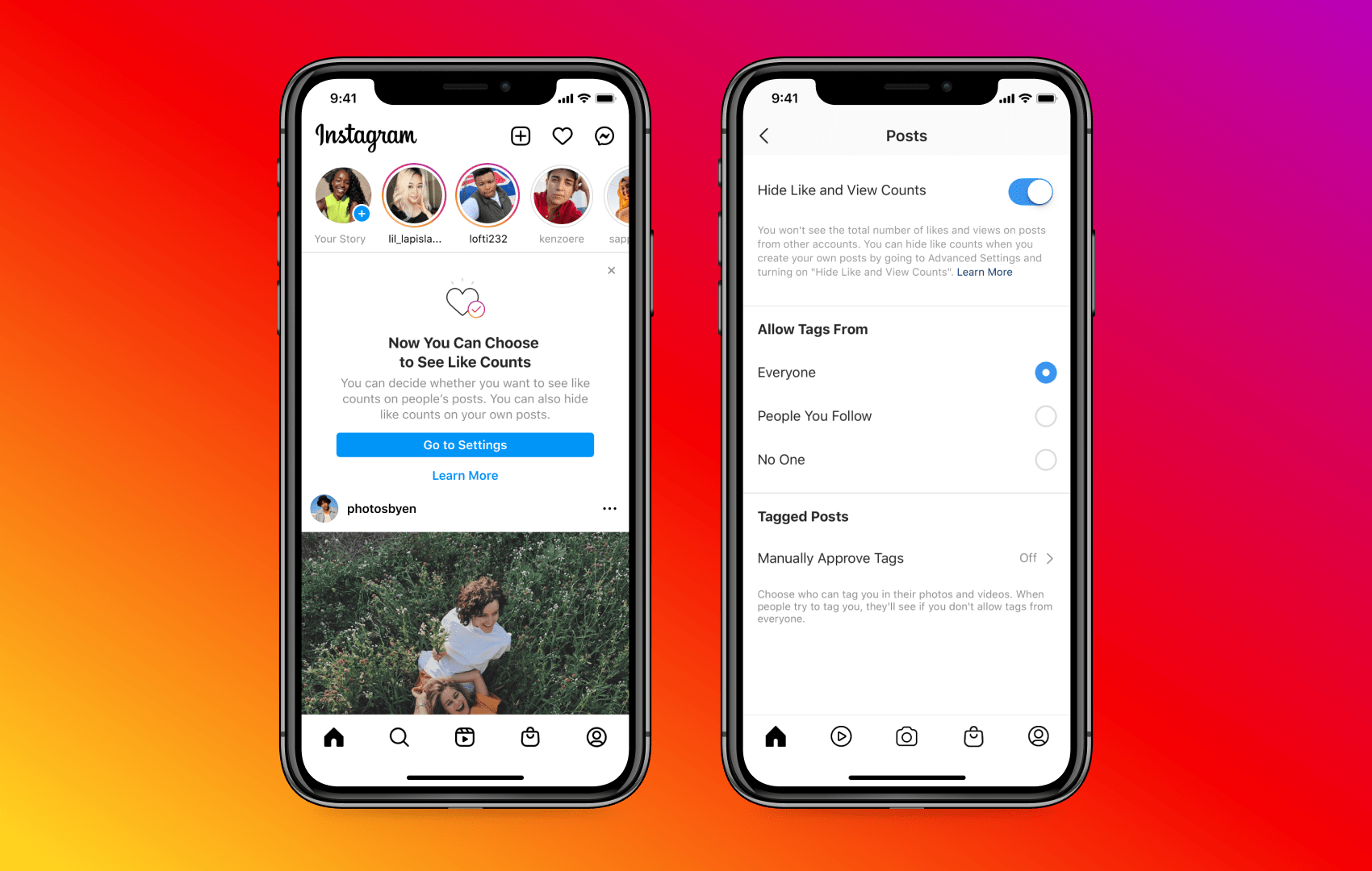How to hide like counts on instagram or facebook